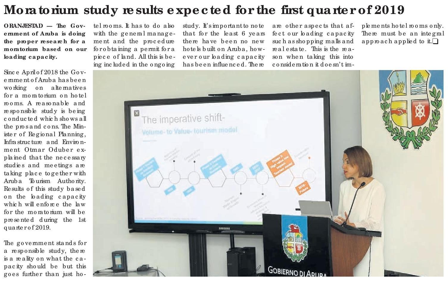 Preliminary results of the ARUBA study.