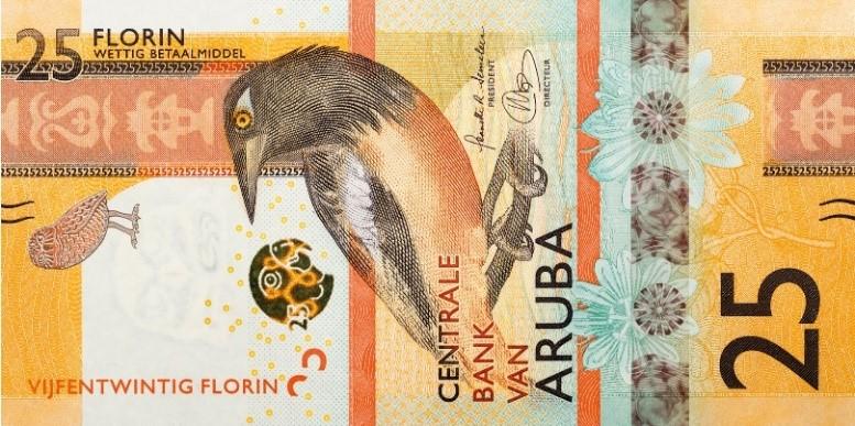 Aruba S 25 Florin Banknote Nominated
